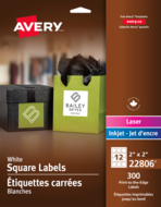 Avery<sup>®</sup> Print-to-the-Edge Square Labels 22806