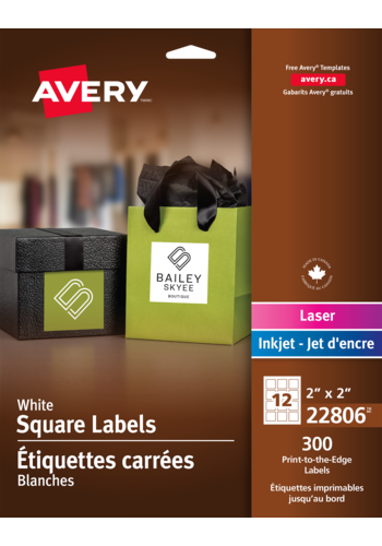 Avery<sup>&reg;</sup> Print-to-the-Edge Square Labels - Avery<sup>&reg;</sup> Print-to-the-Edge Square Labels