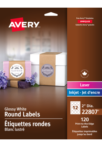 Avery<sup>&reg;</sup> Print-to-the-Edge Round Labels - Avery<sup>&reg;</sup> Print-to-the-Edge Round Labels