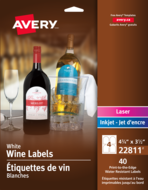 Avery<sup>®</sup> Water-Resistant Wine Labels  22811