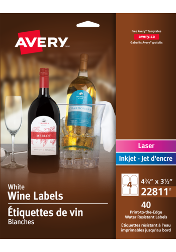 Avery<sup>&reg;</sup> Water-Resistant Wine Labels  - Avery<sup>&reg;</sup> Water-Resistant Wine Labels