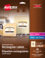 Avery<sup>®</sup> Print-to-the-Edge Rectangular Labels 22823
