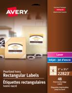 Avery<sup>®</sup> Étiquettes rectangulaires imprimables jusqu'au bord pour imprimantes à laser ou jet d'encre 22823