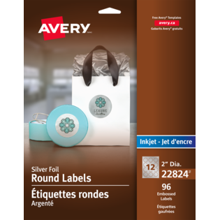 Avery® Embossed Round Labels