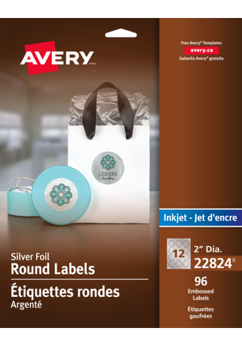 Avery<sup>&reg;</sup> Embossed Round Labels - Avery<sup>&reg;</sup> Embossed Round Labels