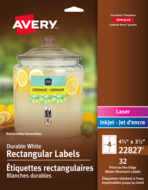 Avery<sup>&reg;</sup> Removable Durable Rectangular Labels 22827