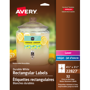 Avery® Removable Durable Rectangular Labels
