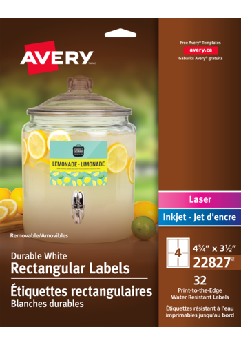 Avery<sup>&reg;</sup> Removable Durable Rectangular Labels - Avery<sup>&reg;</sup> Removable Durable Rectangular Labels