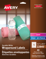 Avery<sup>&reg;</sup> Durable Wraparound Labels 22845