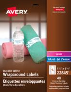 Avery<sup>&reg;</sup> Étiquettes enveloppantes Durables pour imprimantes à laser ou jet d'encre 22845