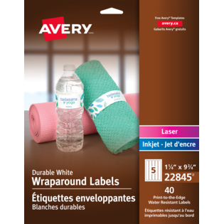 Avery® Durable Wraparound Labels