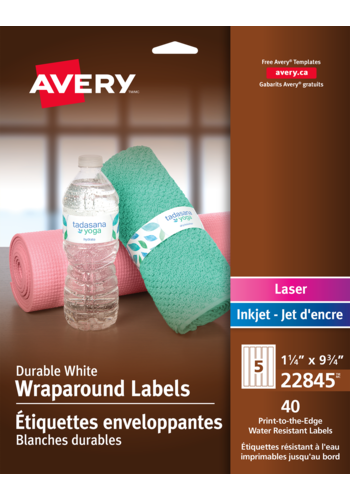 avery durable wraparound water bottle labels 22845 9 3 4 x 1 1 4