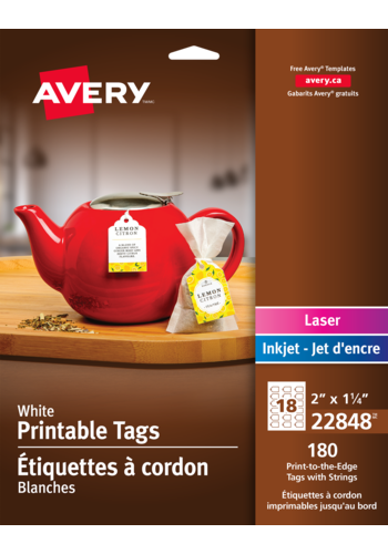 Avery<sup>®</sup> White Printable Tags with Strings - Avery<sup>®</sup> White Printable Tags with Strings