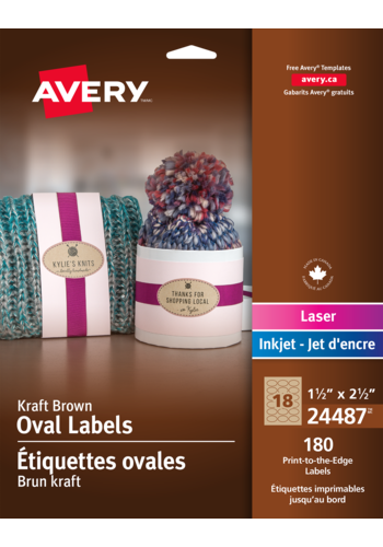 Avery<sup>&reg;</sup> Print-to-the-Edge Oval Labels - Avery<sup>&reg;</sup> Print-to-the-Edge Oval Labels