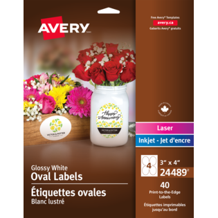 Avery® Print-to-the-Edge Oval Labels