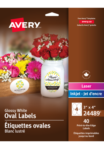 Avery<sup>®</sup> Print-to-the-Edge Oval Labels - Avery<sup>®</sup> Print-to-the-Edge Oval Labels