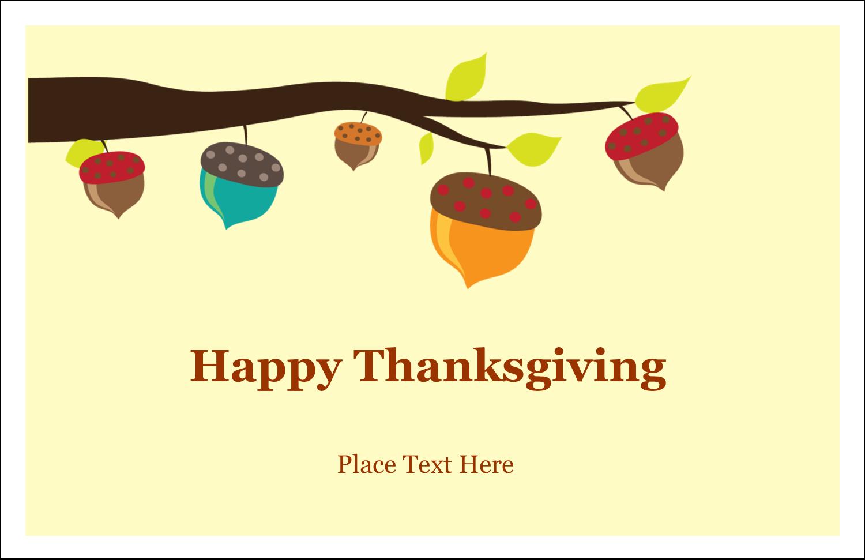 "5½"" x 8½"" Greeting Card - Acorn Tree"