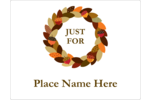 Weave fall style into custom projects with pre-designed Acorn Wreath templates.