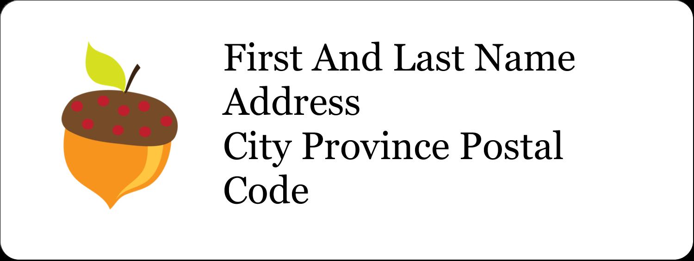 "⅔"" x 1¾"" Address Label - Acorn Tree"