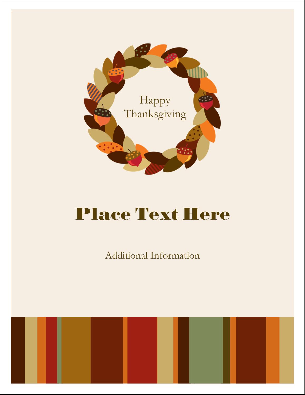 "4¼"" x 5½"" Postcard - Acorn Wreath"