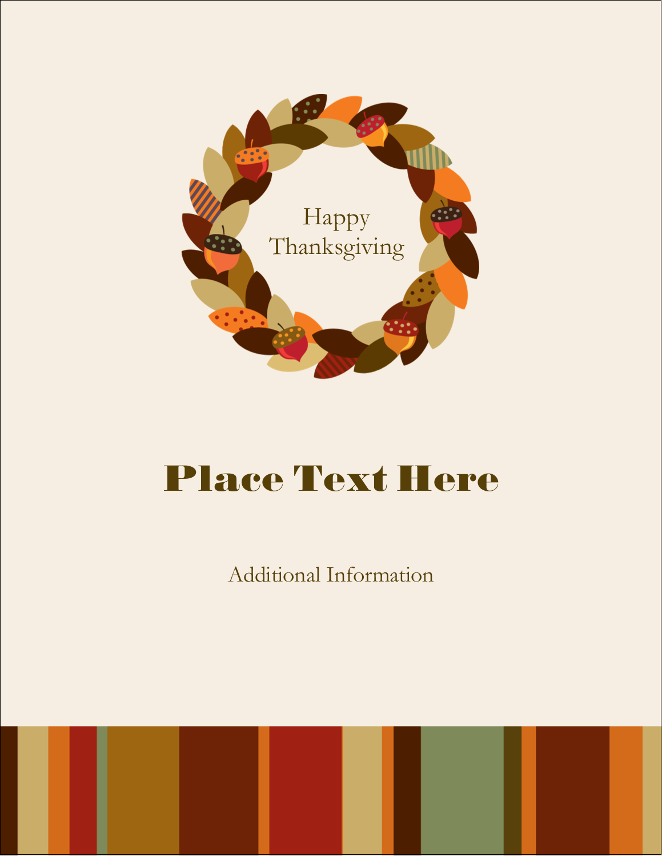 "5½"" x 4¼"" Postcard - Acorn Wreath"