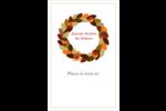 Couronne de glands Cartes Et Articles D'Artisanat Imprimables - gabarit prédéfini. <br/>Utilisez notre logiciel Avery Design & Print Online pour personnaliser facilement la conception.