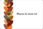 Couronne de glands Étiquettes rectangulaires - gabarit prédéfini. <br/>Utilisez notre logiciel Avery Design & Print Online pour personnaliser facilement la conception.