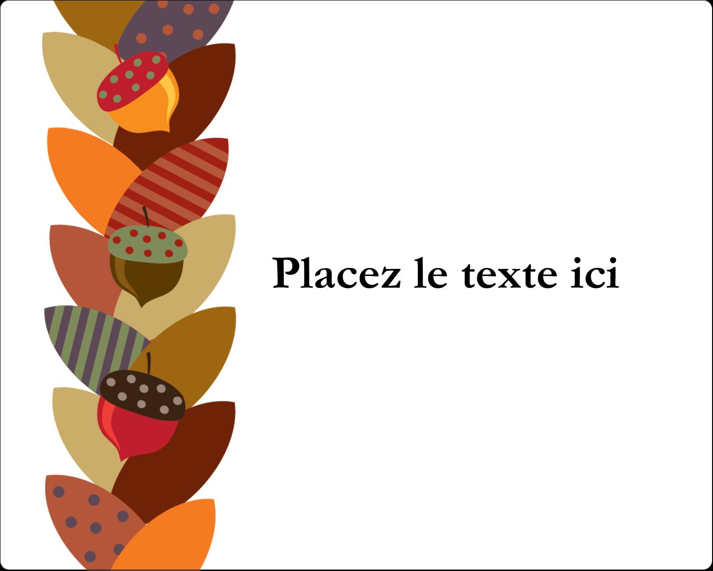 """2"""" Diameter Étiquettes rondes gaufrées - Couronne de glands"""