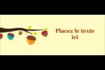 Branche de glands Affichette - gabarit prédéfini. <br/>Utilisez notre logiciel Avery Design & Print Online pour personnaliser facilement la conception.