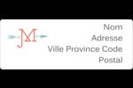 Monogramme Étiquettes D'Adresse - gabarit prédéfini. <br/>Utilisez notre logiciel Avery Design & Print Online pour personnaliser facilement la conception.