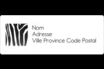 Imprimé zébré Étiquettes D'Adresse - gabarit prédéfini. <br/>Utilisez notre logiciel Avery Design & Print Online pour personnaliser facilement la conception.