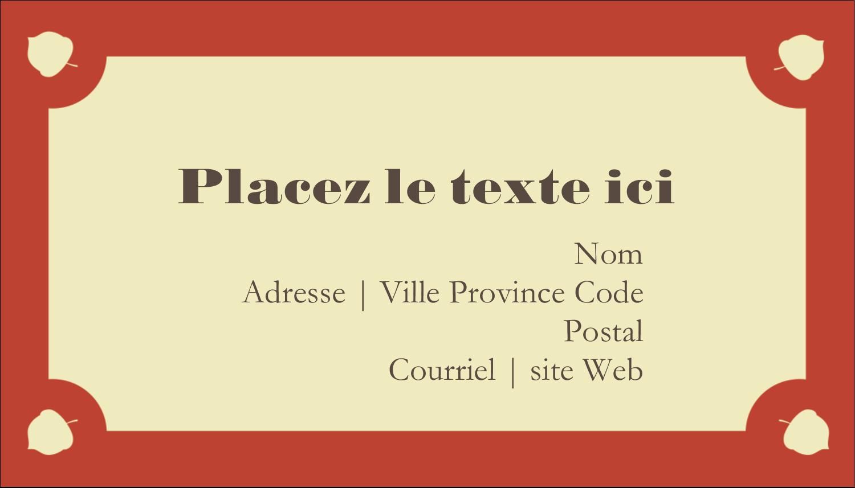 """2"""" x 3½"""" Carte d'affaire - Branche de glands"""