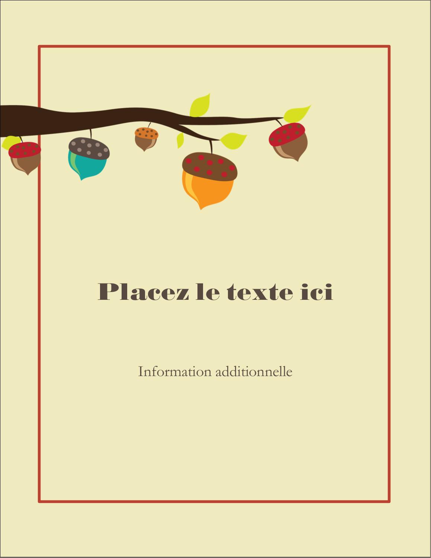 """4¼"""" X 5½"""" Carte Postale - Branche de glands"""