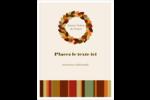 Couronne de glands Carte Postale - gabarit prédéfini. <br/>Utilisez notre logiciel Avery Design & Print Online pour personnaliser facilement la conception.
