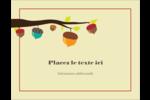 Branche de glands Carte Postale - gabarit prédéfini. <br/>Utilisez notre logiciel Avery Design & Print Online pour personnaliser facilement la conception.