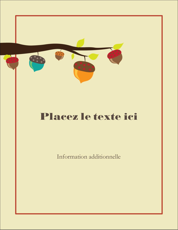 """5½"""" x 4¼"""" Carte Postale - Branche de glands"""