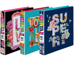 Floral Messaging Binders