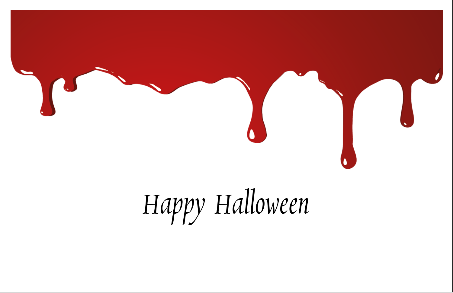 "5½"" x 8½"" Greeting Card - Bloody Halloween"