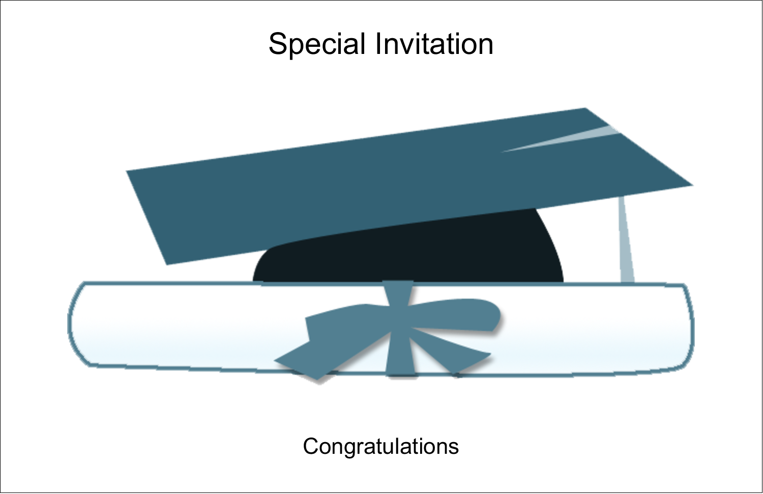"5½"" x 8½"" Greeting Card - Blue Graduation"