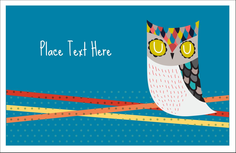 """5½"""" x 8½"""" Greeting Card - Artful Owl"""