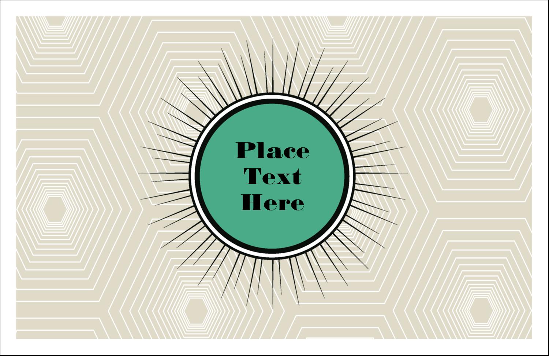 "5½"" x 8½"" Greeting Card - Burst Green"