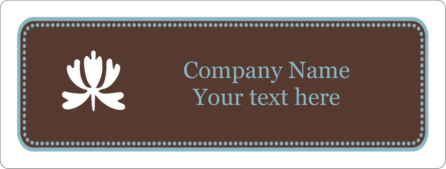 "1"" x 2⅝"" Address Label - Blue Brown Border"