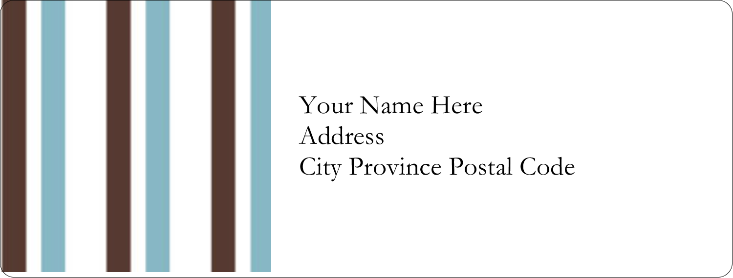 "1"" x 2⅝"" Address Label - Blue Stripes"