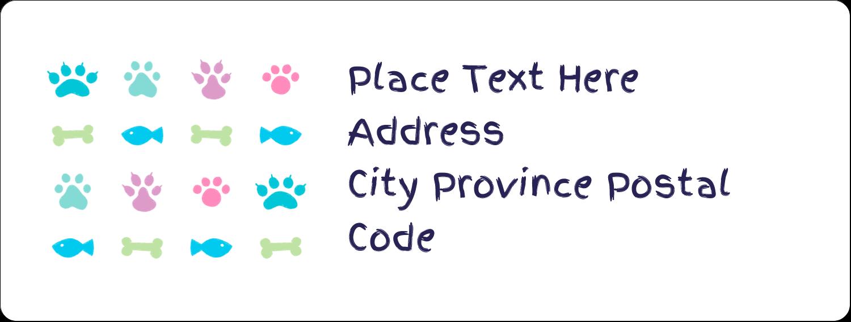 "1"" x 2⅝"" Address Label - Furry Friends"