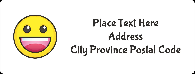 "1"" x 2⅝"" Address Label - Emoji Faces"