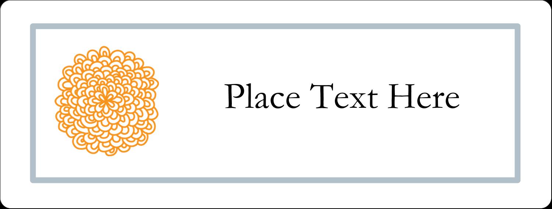 "2⅝"" x 1"" Fluorescent Label - Bookplate Generic"