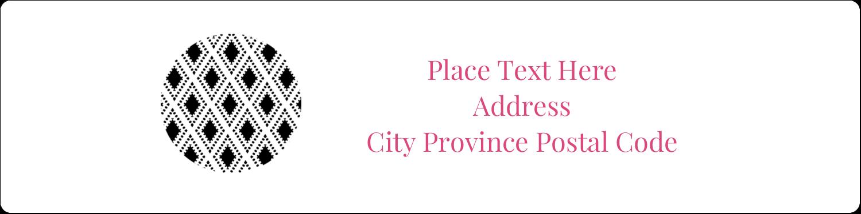 "1"" x 4"" Address Label - Decorative Damask"