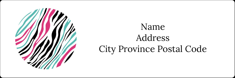"1⅓"" x 4"" Address Label - Animal Prints"