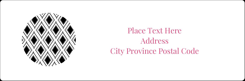 "1⅓"" x 4"" Address Label - Decorative Damask"