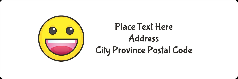 "1⅓"" x 4"" Address Label - Emoji Faces"